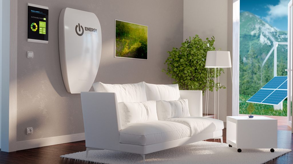 Fig. 3: Home wall battery concept in a living room